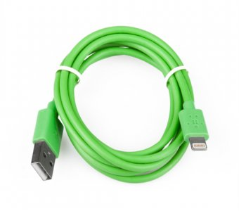 USB Дата-кабель Belkin Apple 8 pin зеленый